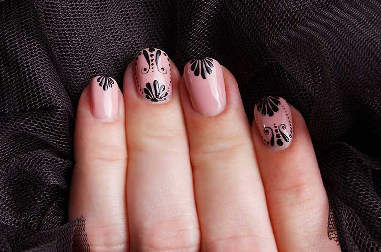 A revolution beautiful nude colour nail art add flare to your nails prinsesfo Images