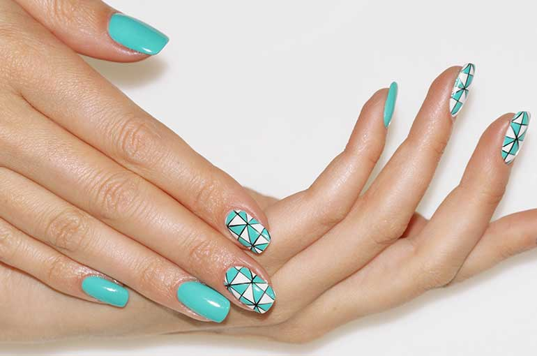 Modern nail art designs that are too cute to resist geometrical nail art prinsesfo Choice Image